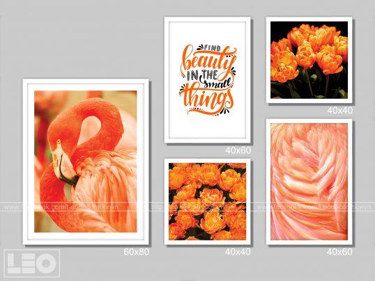 Bộ 5 tranh trang trí Canvas Orange 1