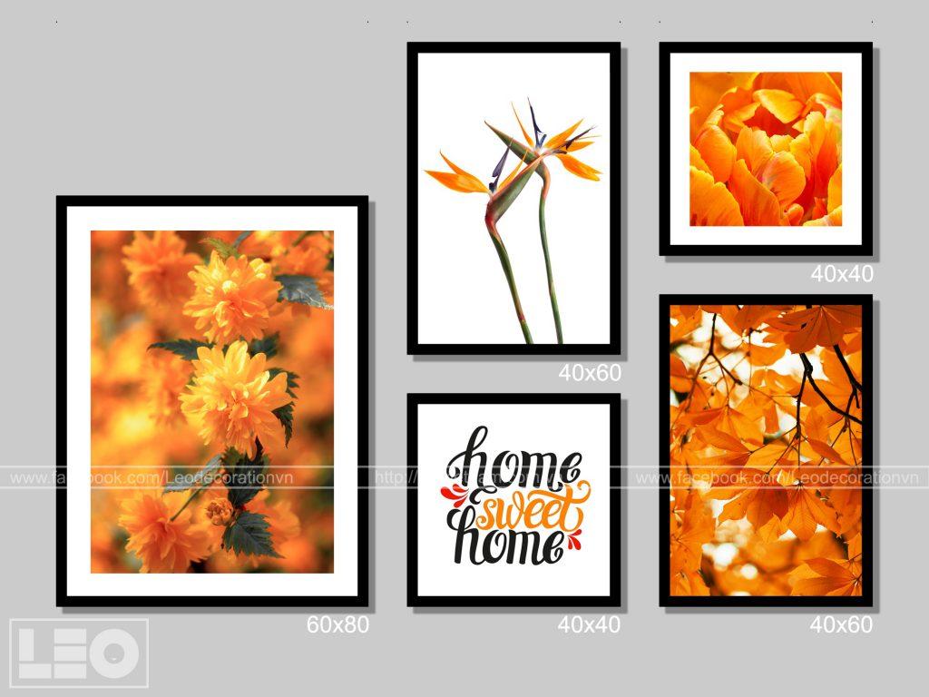 Bộ tranh Canvas Orange 7