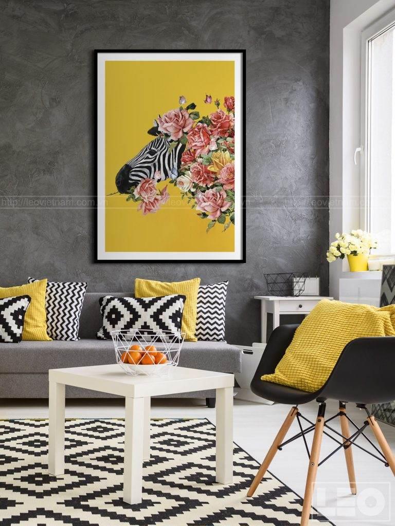 Tranh lẻ Canvas treo tường phòng khách Bloom & Wild 01