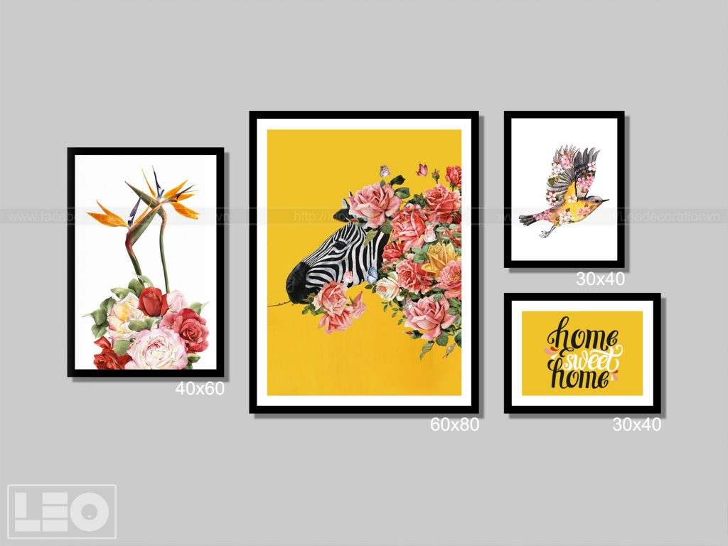 Tranh bộ Canvas Bloom & Wild 04
