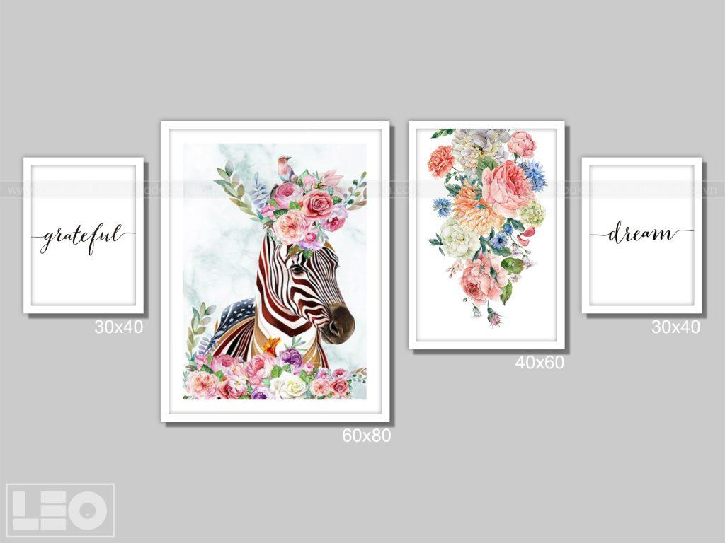 Tranh bộ Canvas Bloom & Wild 02