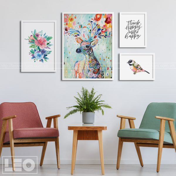 Tranh bộ Canvas Bloom & Wild 03