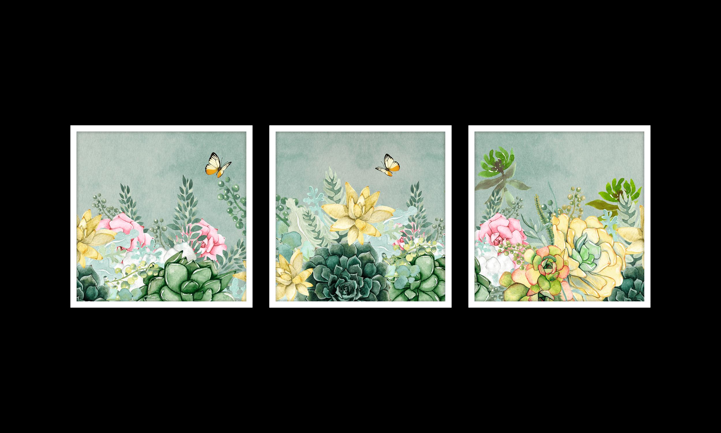 Green Succulent Garden