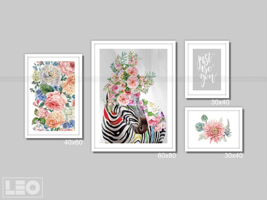 Tranh bộ Canvas Bloom & Wild 06