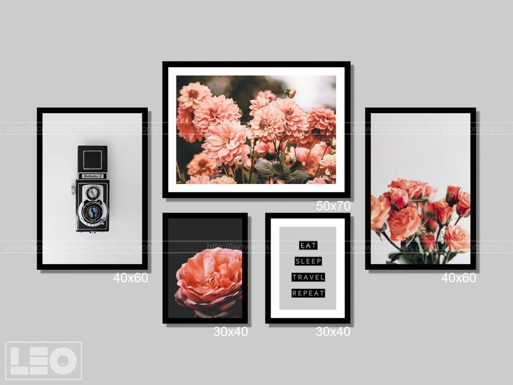 Bộ 5 tranh treo tường Winter Bloom 2