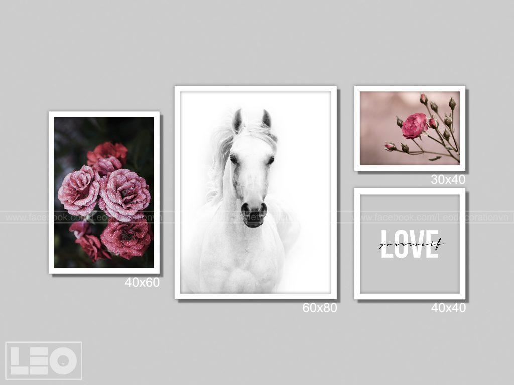 Bộ 5 tranh treo tường Winter Bloom 5