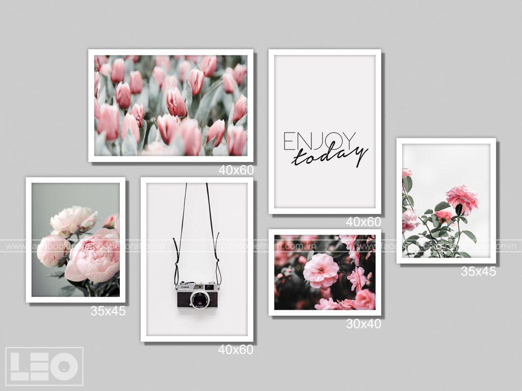 Bộ 6 tranh treo tường Winter Bloom 6