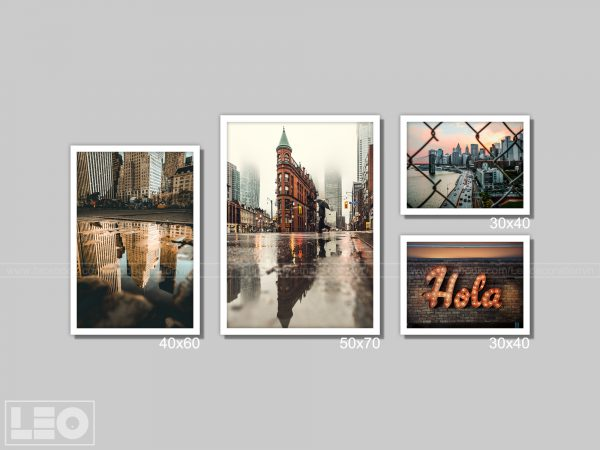 Bộ 4 tranh Canvas City Vibes 2