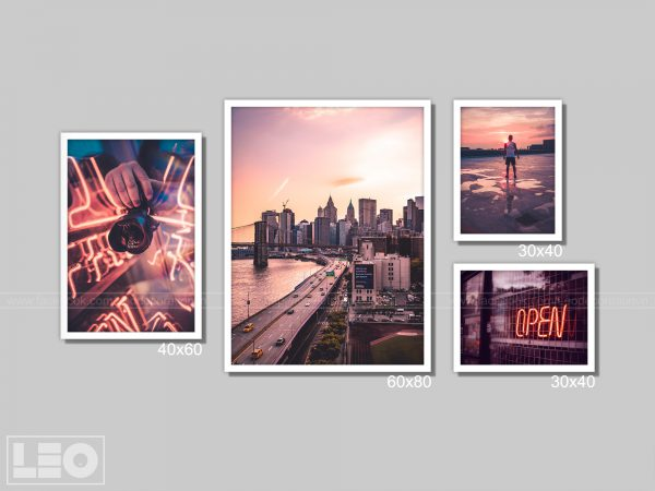Bộ 4 tranh Canvas City Vibes 3