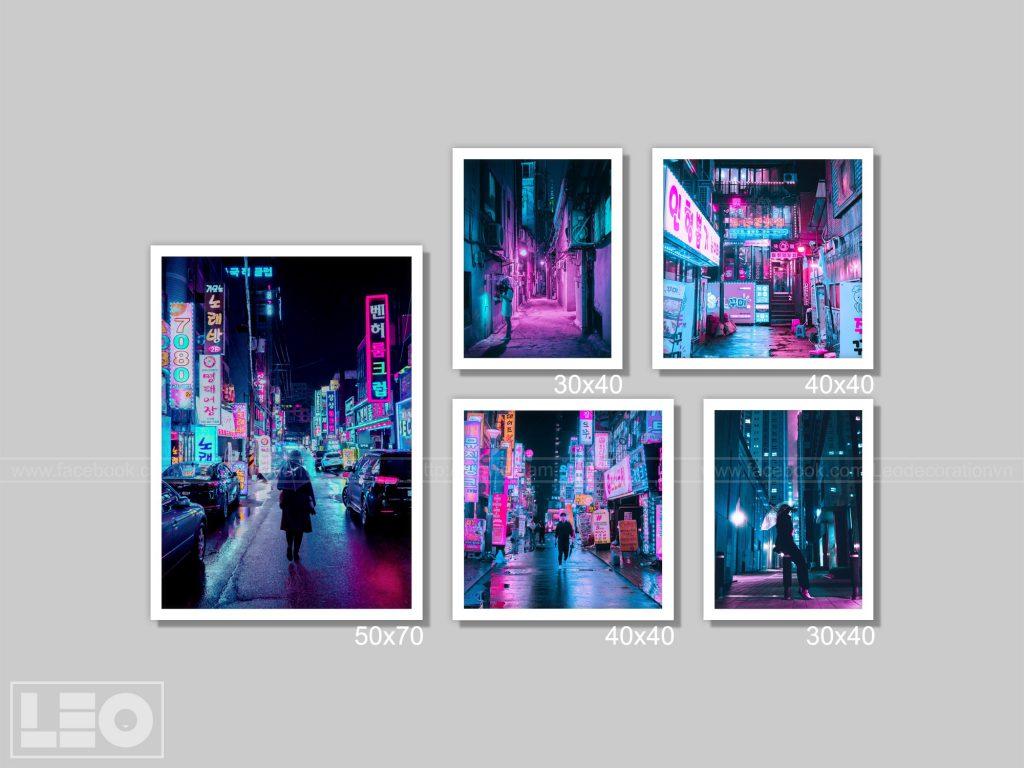 Bộ 5 tranh ban đêm City Vibes 5