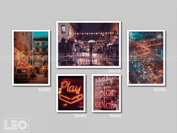 Bộ 5 tranh trang trí City Vibes 6