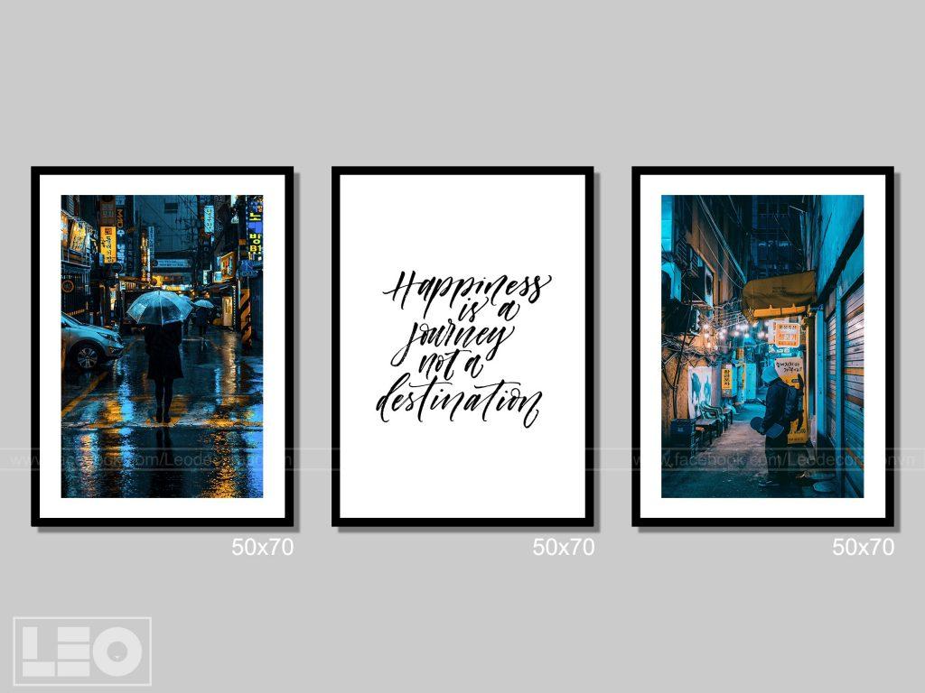 Bộ 3 tranh Canvas City Vibes 7