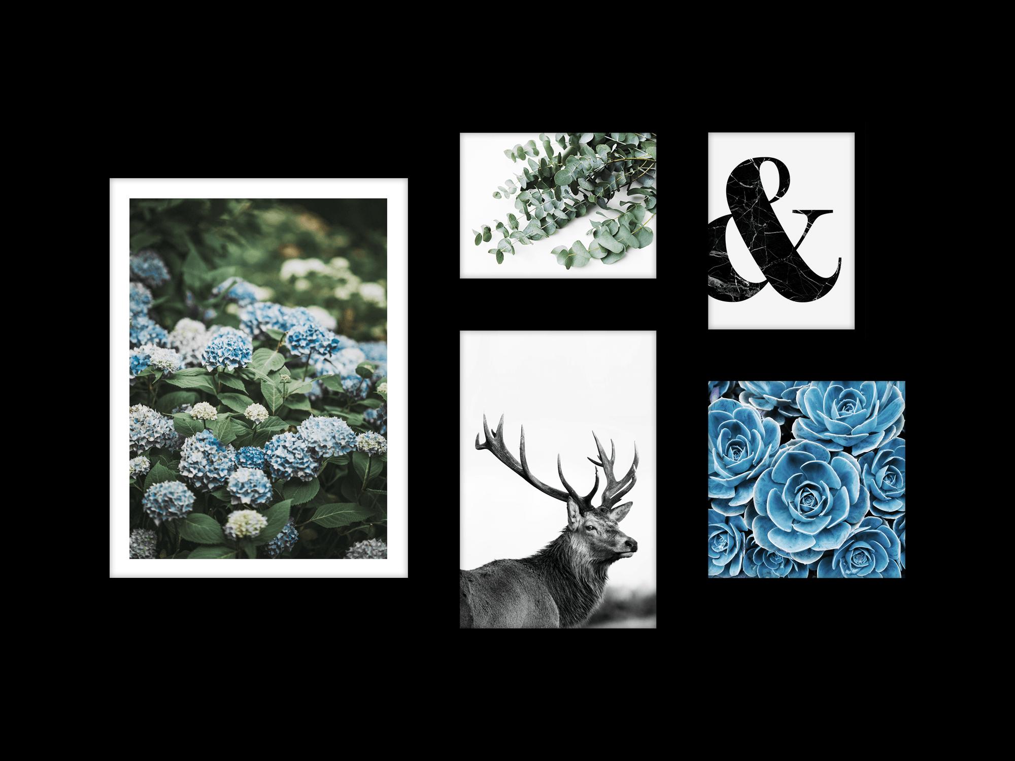 Bộ 5 tranh treo tường Winter Bloom 3