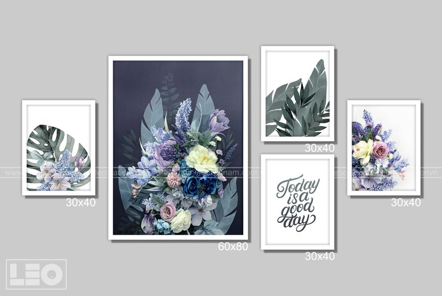 Bộ 5 tranh Mid Night Blooms
