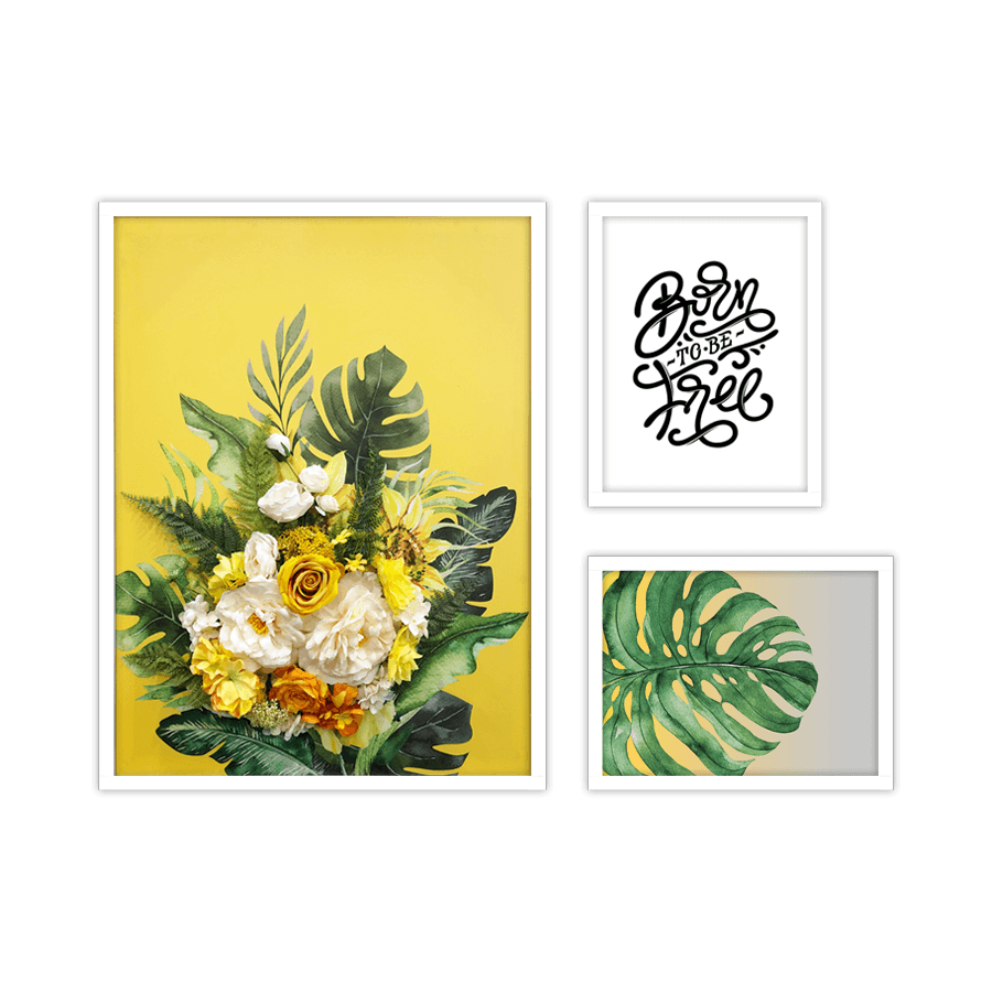 Yellow Blooms Mini set