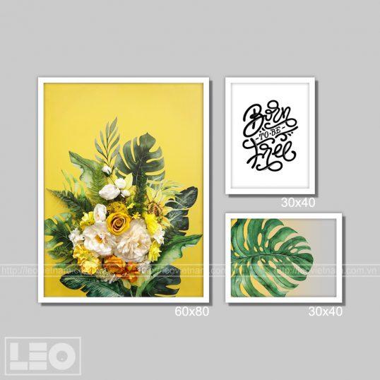 Bộ tranh trang trí Yellow Blooms Mini set