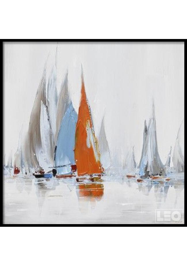 Tranh sơn dầu Ra Khơi 05