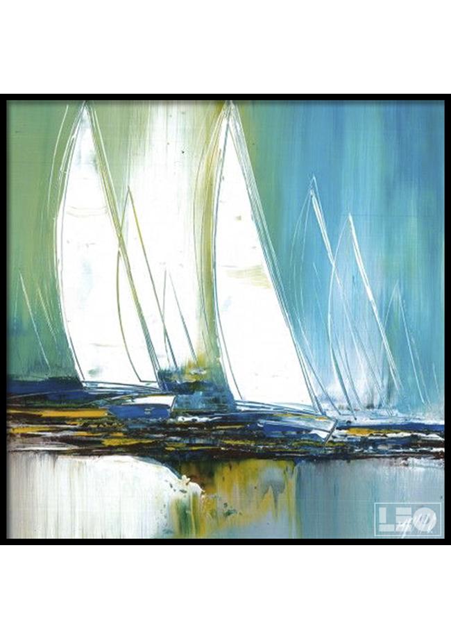Tranh sơn dầu Ra Khơi 06