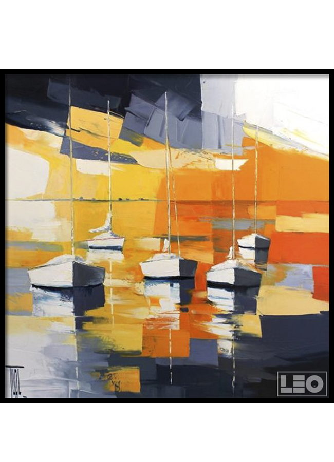 Tranh sơn dầu Sunset ocean