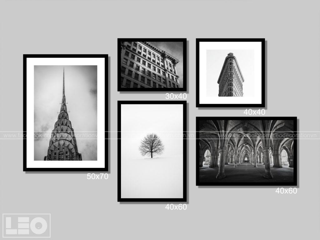 mẫu tranh đen trắng đẹp treo tường được ưa thích 2019 - 4