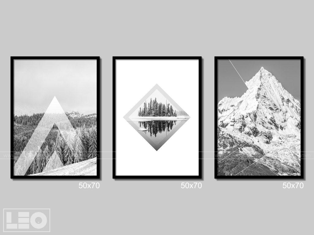 mẫu tranh đen trắng đẹp treo tường được ưa thích 2019 - 5