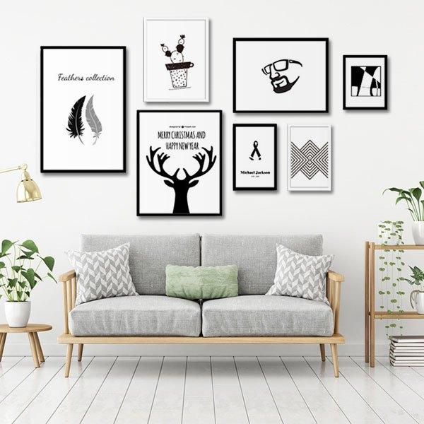 mẫu tranh đen trắng đẹp treo tường được ưa thích 2019 - 9