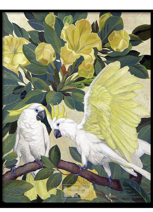 Tranh sơn dầu Yellow Parrot No1