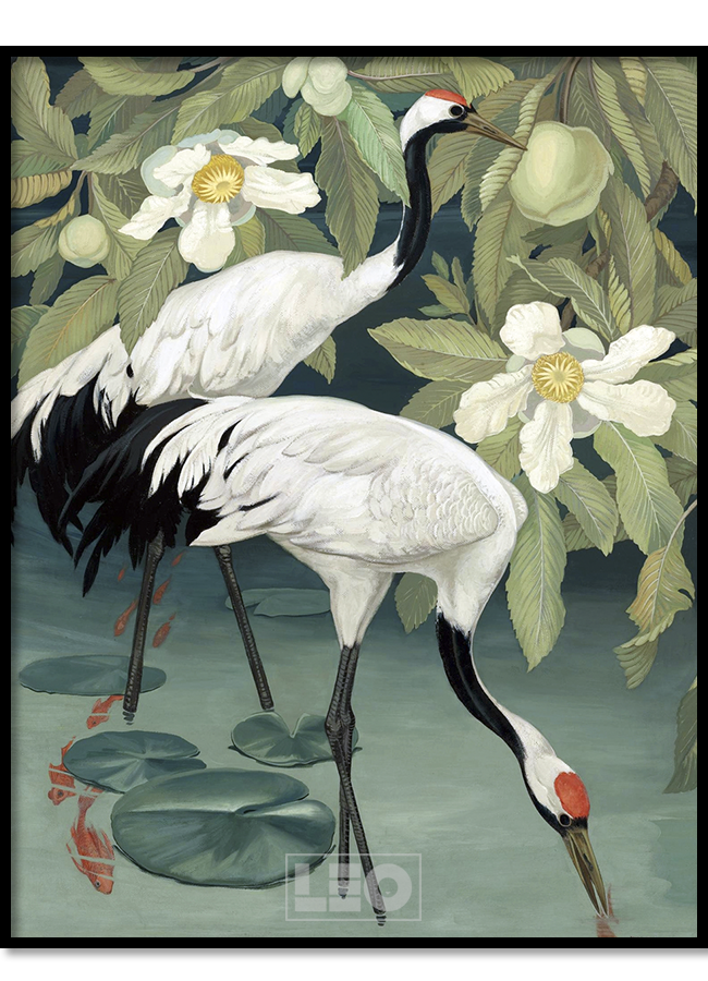 Tranh sơn dầu Summer Crane