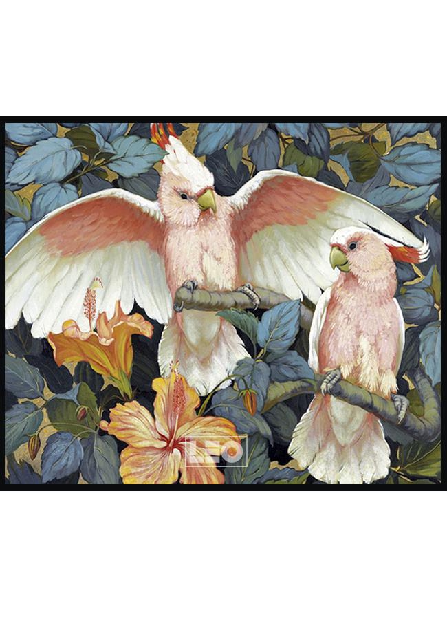 Tranh sơn dầu Red Parrot