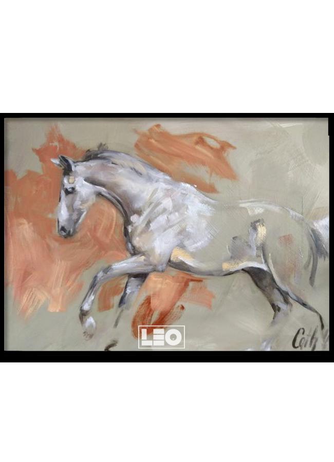 Tranh sơn dầu White Horse No1