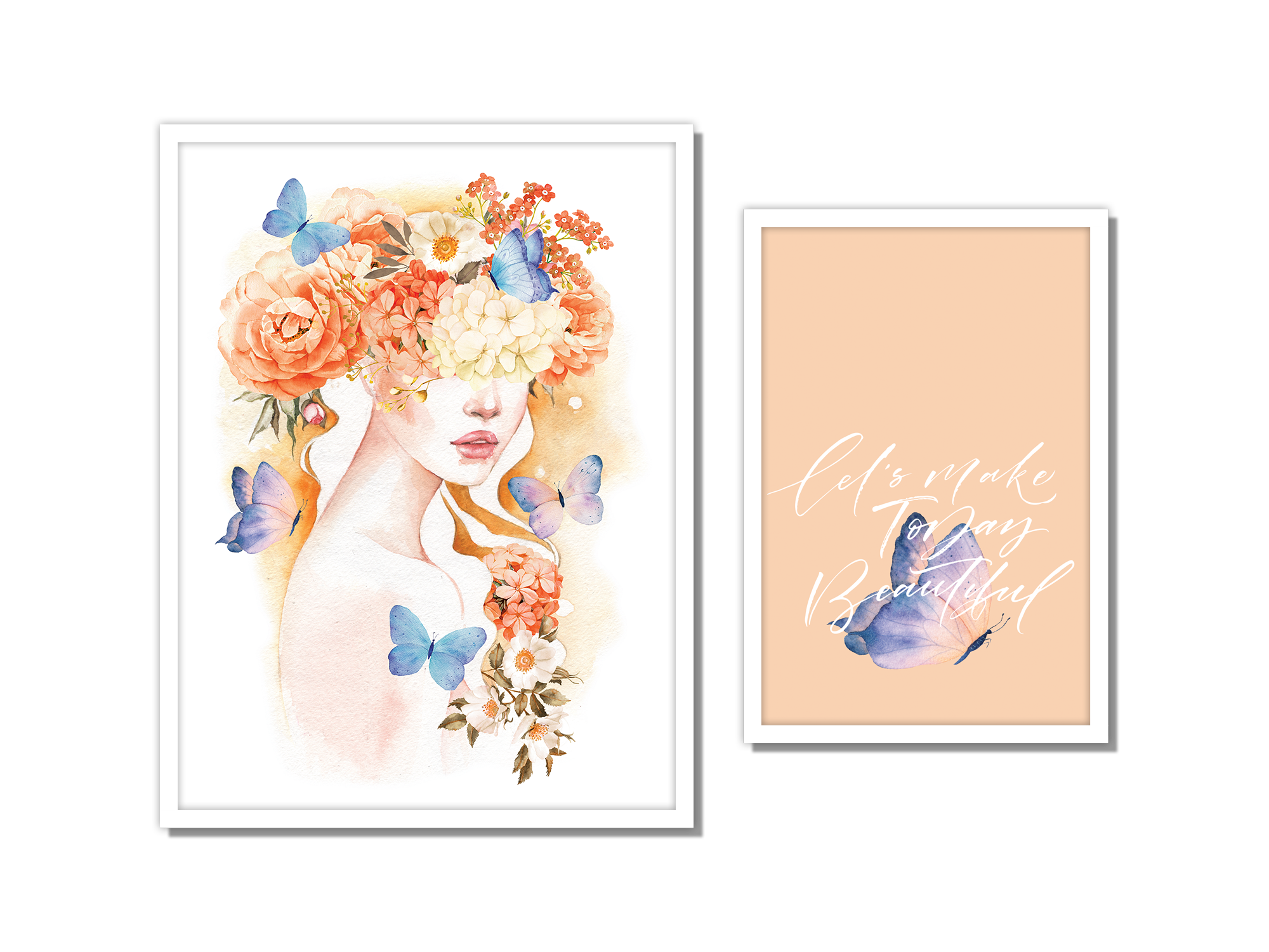 Tranh bộ canvas Lady Hydrangea