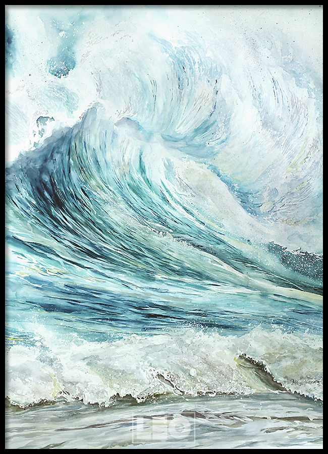 TRANH LẺ CANVAS ABSTRACT SEA BLUE