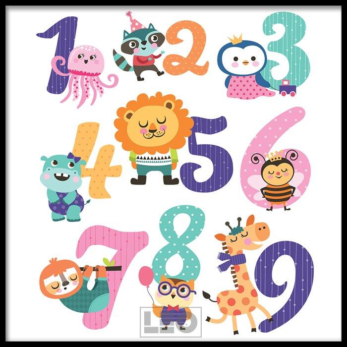 Tranh lẻ canvas  square alphabet kid 02