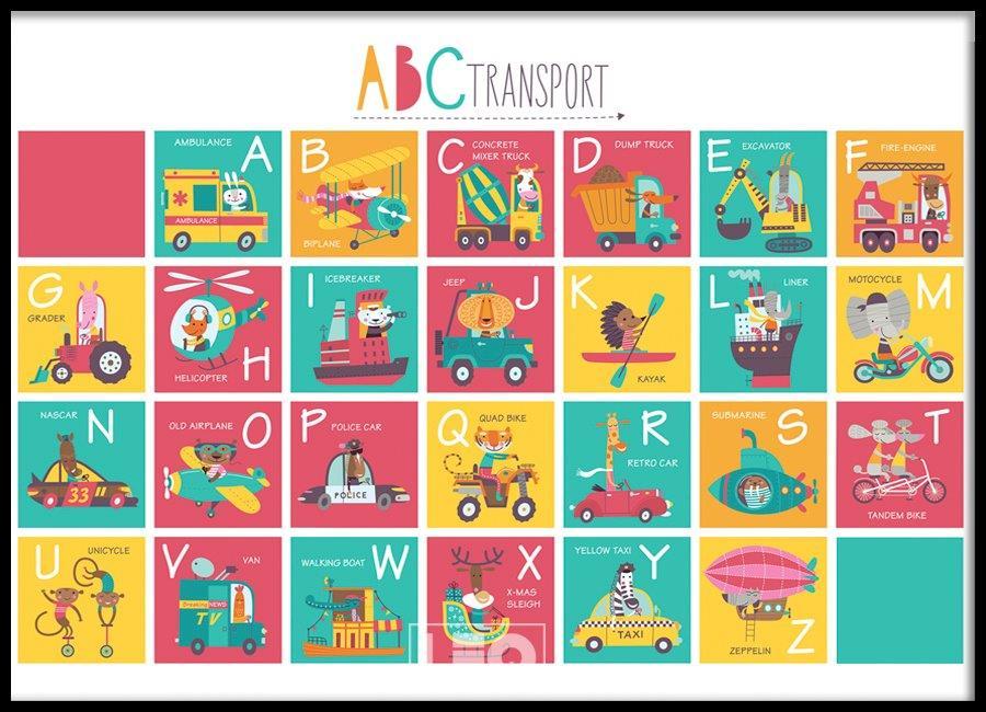 Tranh đơn canvas landscape alphabet kid 03