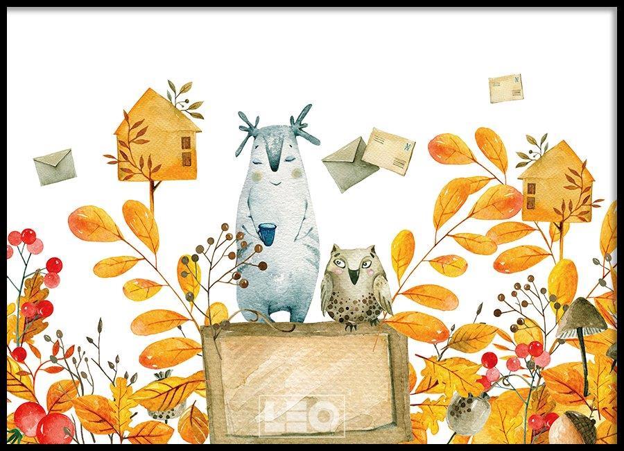 Tranh đơn canvas landscape autumn messenger