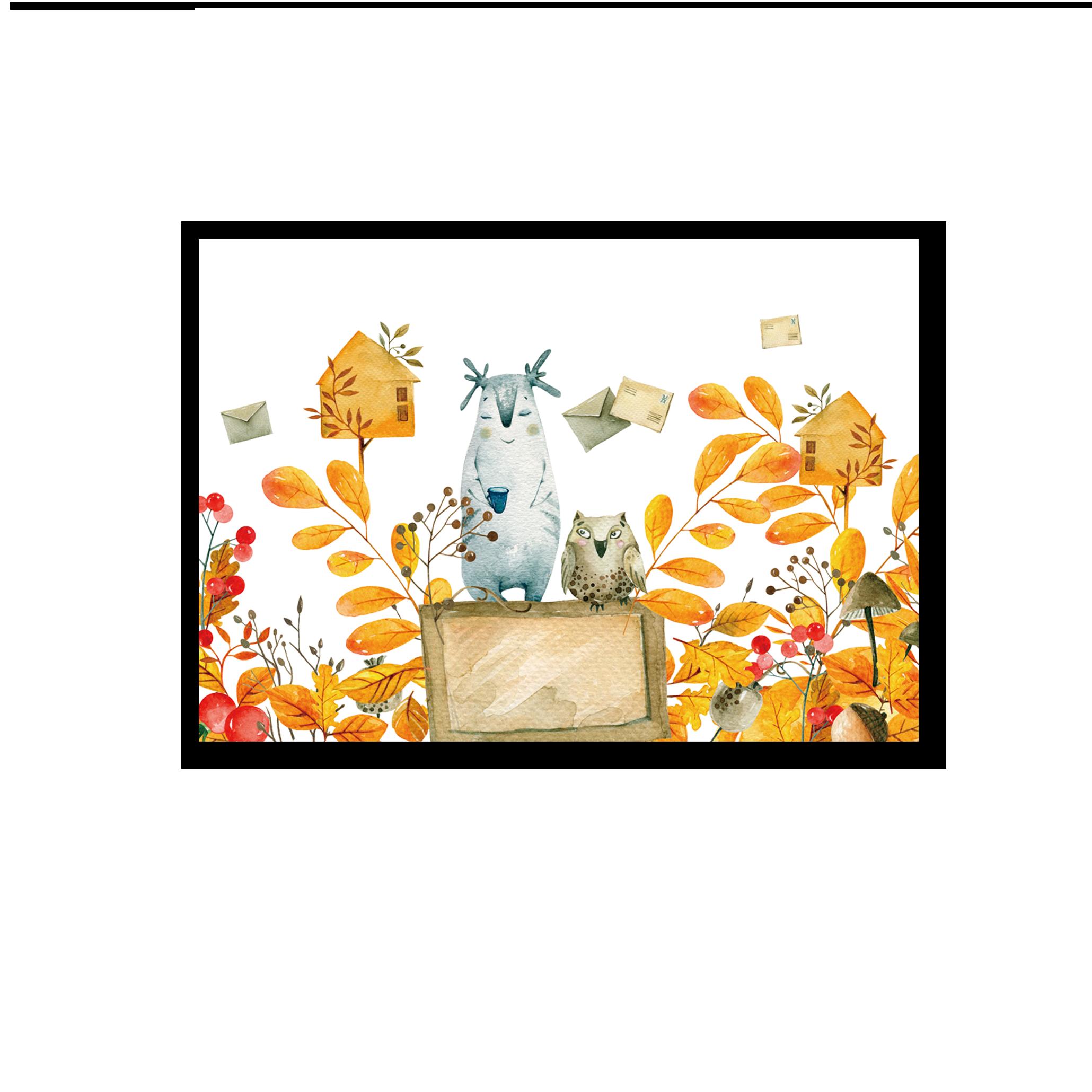 Tranh trang trí phòng trẻ em Autumn messenger
