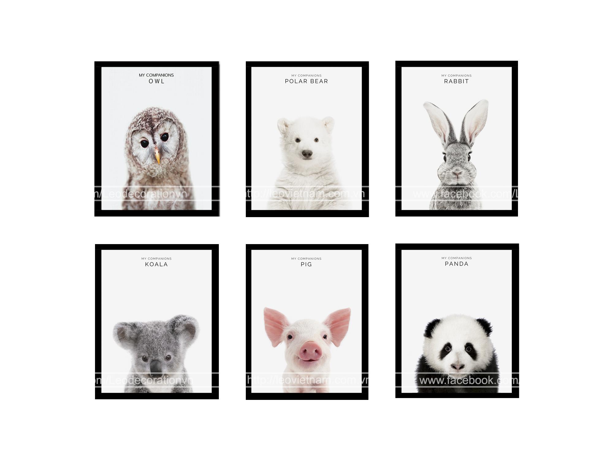 Tranh trang trí phòng trẻ em Baby animal