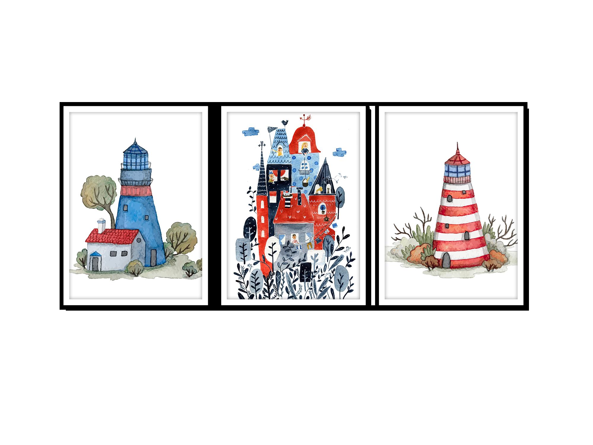 Tranh trang trí phòng trẻ em Castle in dream