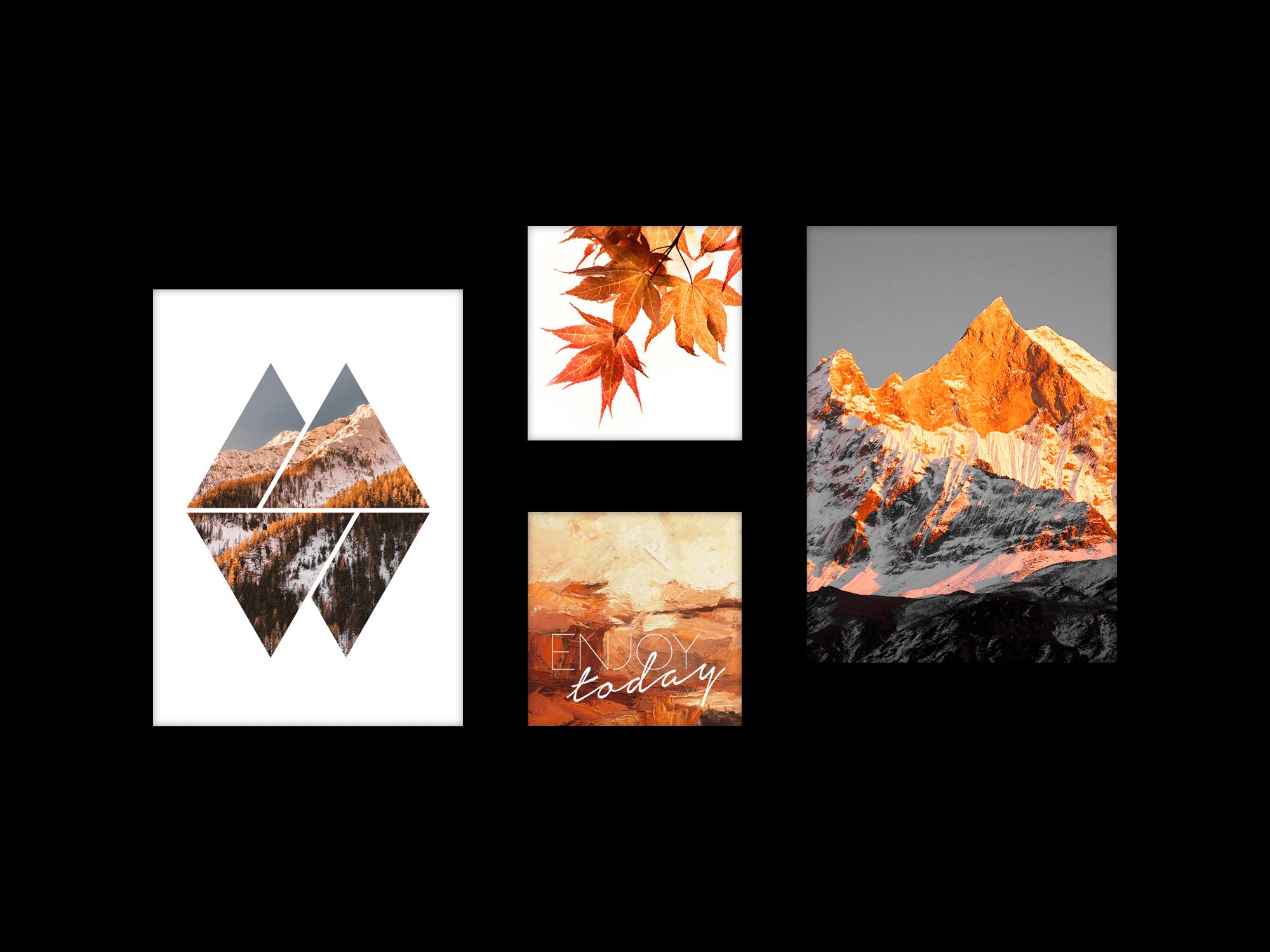 Bộ 4 tranh trang trí Autumn Day
