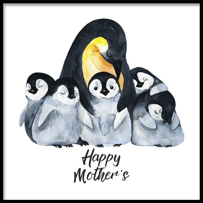 Tranh lẻ canvas square happy mother