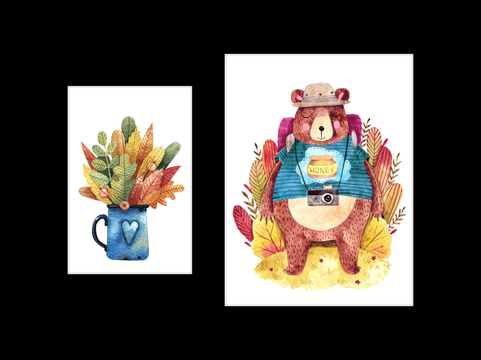 Tranh trang trí phòng trẻ em Honey Bear