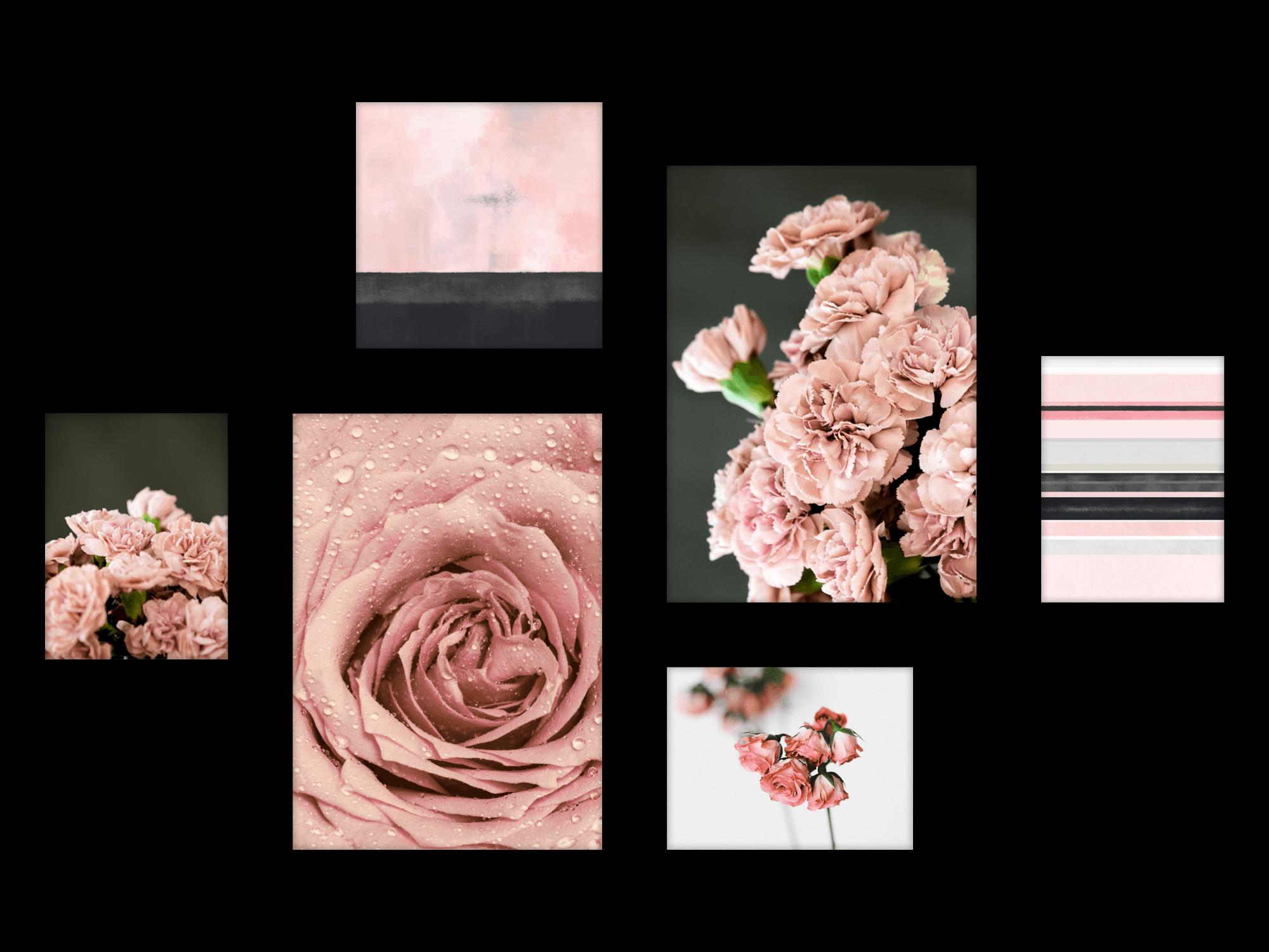 Tranh bộ canvas Grey Pink