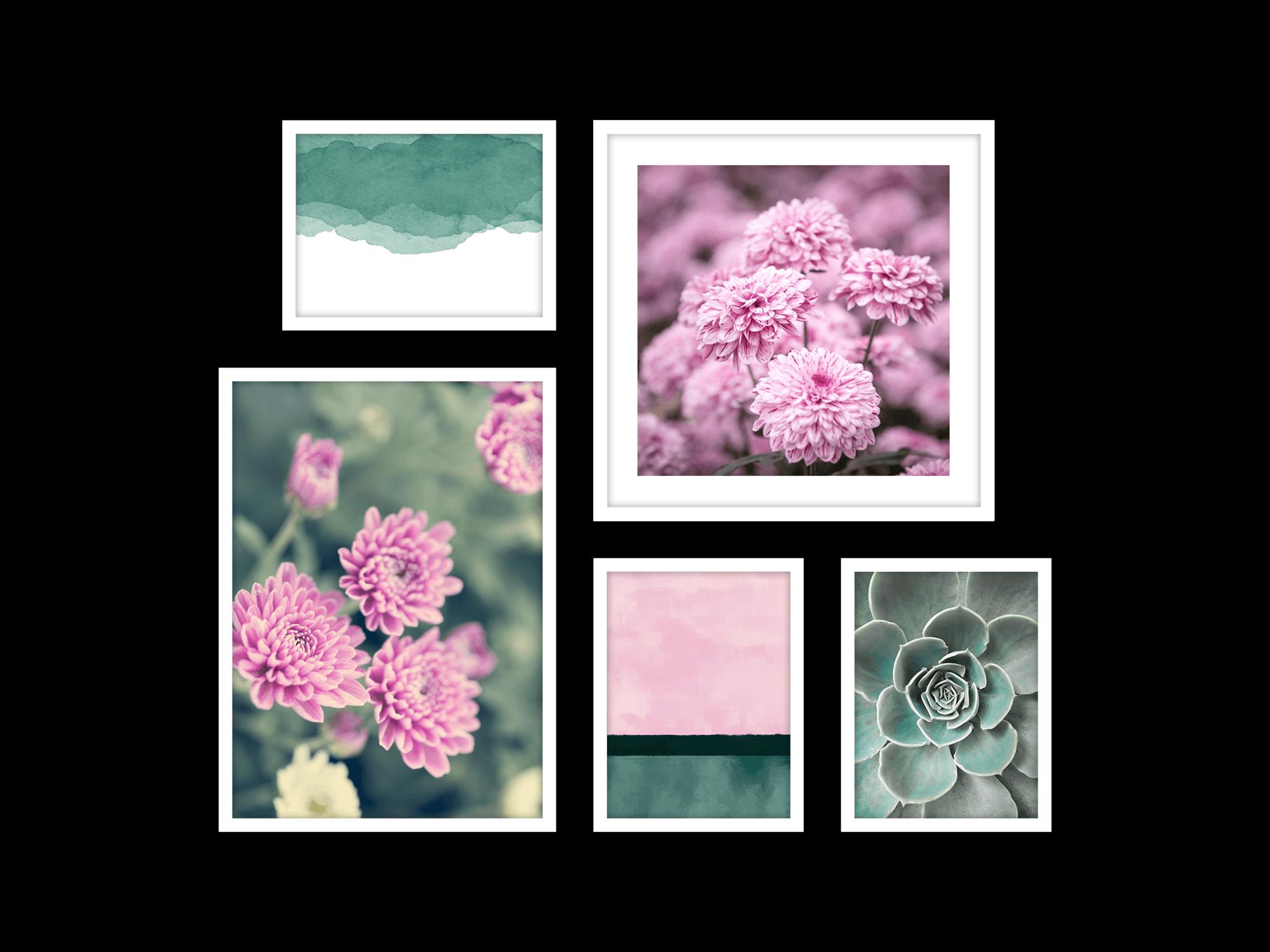 Tranh bộ canvas Pink Purple