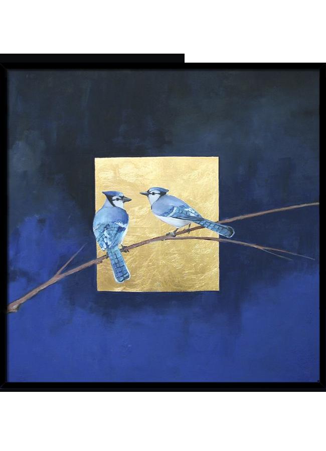 Tranh sơn dầu dát vàng Story of Blue bird