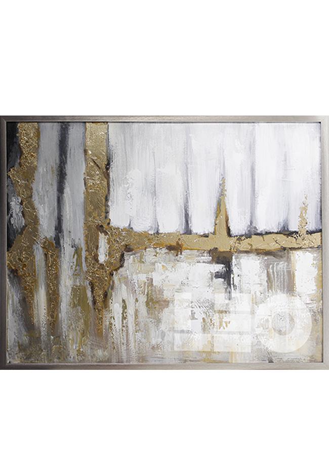 Tranh sơn dầu dát vàng Golden abstract No1