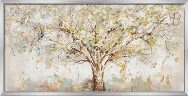 Tranh sơn dầu dát vàng Lucky tree
