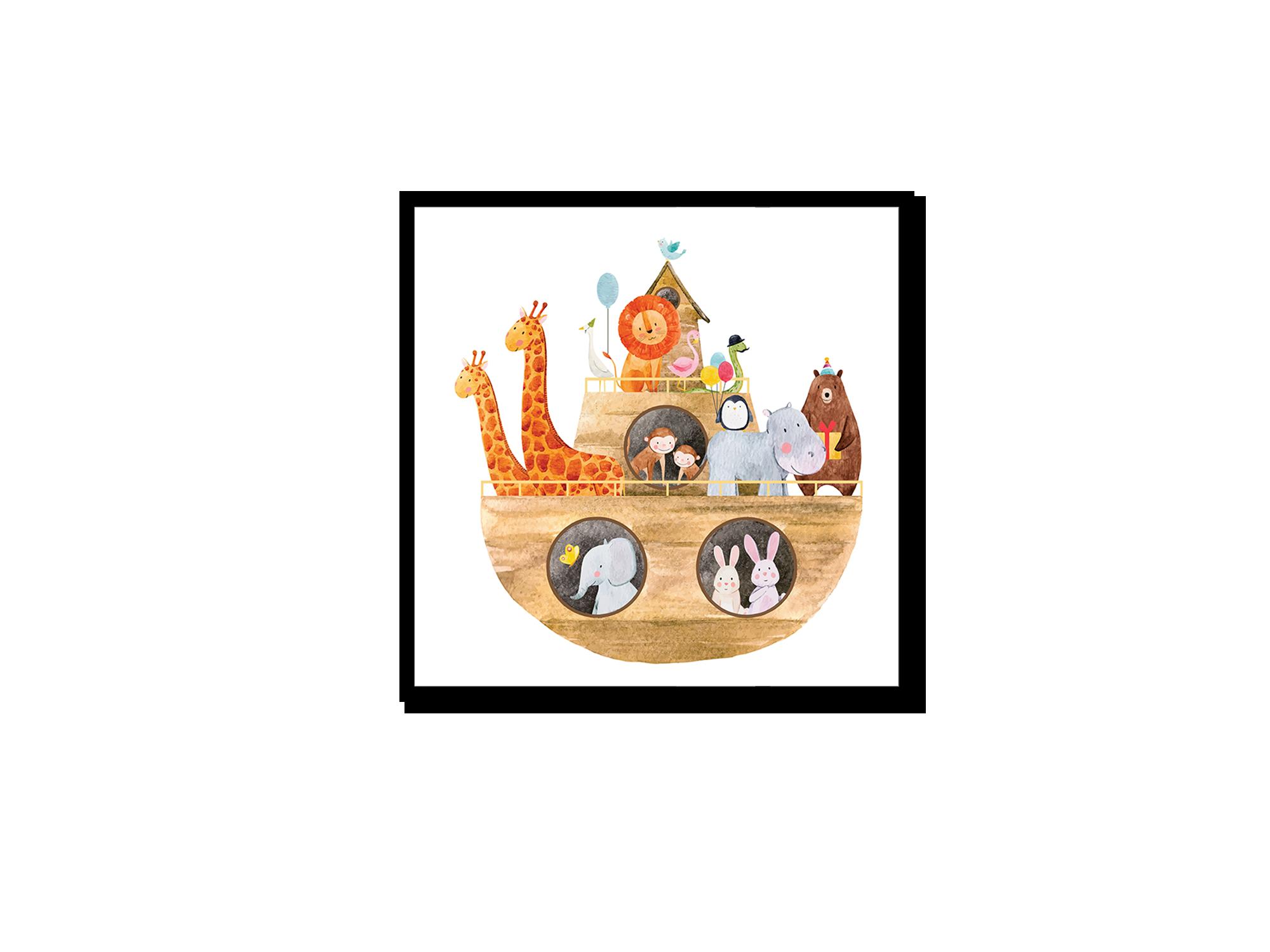 Tranh trang trí phòng trẻ em Noah's Ark