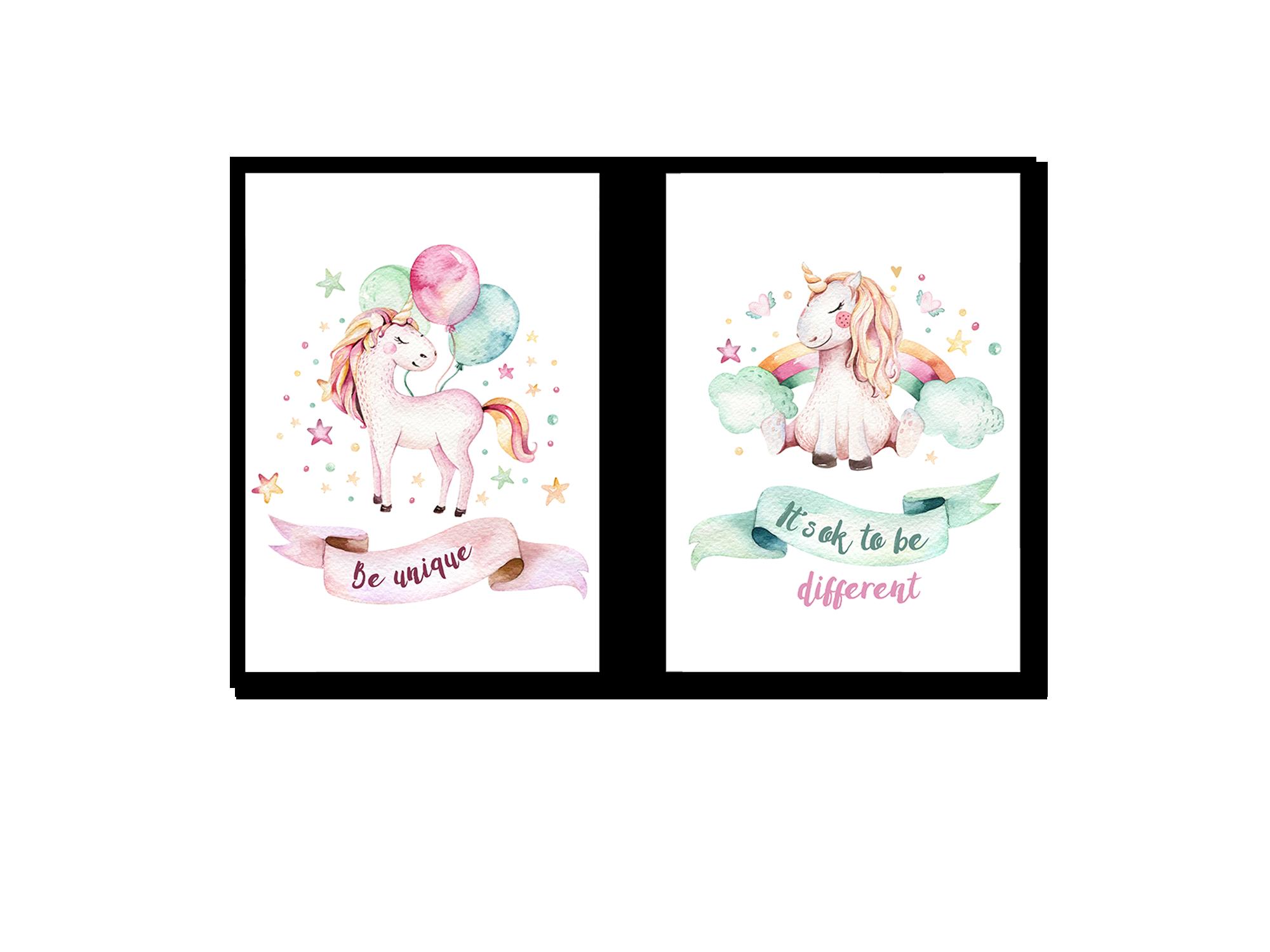 Tranh trang trí phòng trẻ em Unicorn