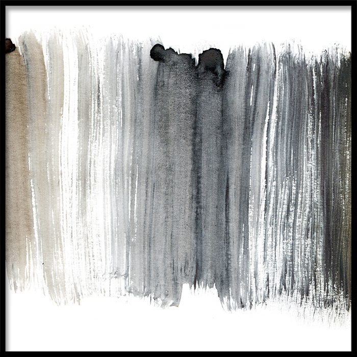 Tranh lẻ canvas Abstract Black & Brown 1