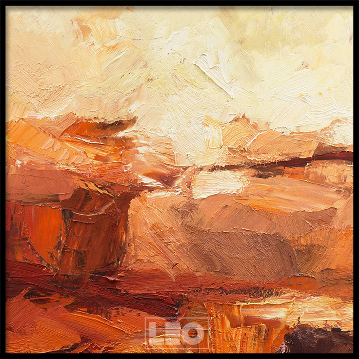 Tranh lẻ canvas Abstract Orange